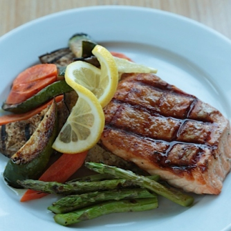 Grilled Salmon dinner