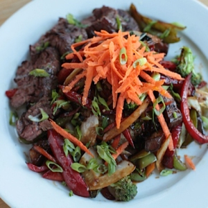 Stir-Fry with Grilled Steak
